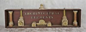 Antique Primitive Wood Carved Painted Wall Hanging Sign Architectural Elements