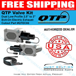 Qtp Dual Low Profile 2 5in To 3in Bolt on Electric Exhaust Cutout Qtec66
