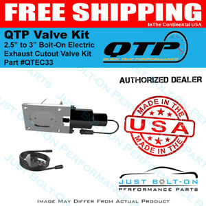 Qtp Single Low Profile 2 5in To 3in Bolt on Electric Exhaust Cutout Qtec33