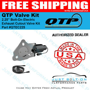 Qtp Single 2 25 Bolt on Electric Exhaust Cutout Valve Kit qtec225