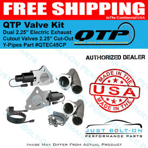 Qtp Dual 2 25 Electric Exhaust Cutout Valves 2 25 Cut out Y pipes qtec45cp