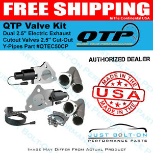 Qtp Dual 2 5in Electric Exhaust Cutout Valves 2 5in Cut out Y pipes Qtec50cp