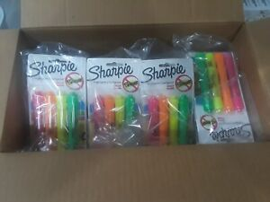 192 Total 48 4 Packs Sharpie Highlighters 4 Colors Free Shipping New In Box