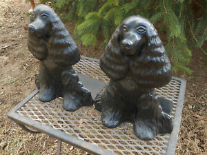 Cast Iron Bookends Dorstops Dreamboy Show Dog Virginia Metalcrafters Hallmarked