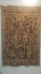 Antique French Tapestry Large 49 W X 74 L