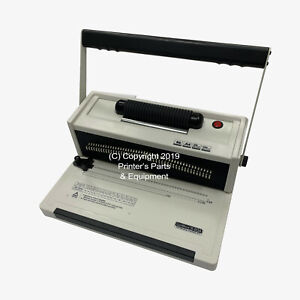 S20a Manual Spiral Coil Binding Machine With Electrical Inserter Free Pliers