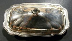 Kent Silversmiths Silverplate Covered Butter Dish W Glass Liner Taunton Ma Usa