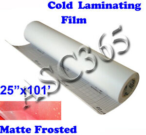 Us Free Shipping 0 69x31yd Matte frosted Vinyl Cold Laminating Film Laminator