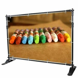 Portable 8x8 Banner Stand Adjustable Telescopic Backdrop Photo Support Set
