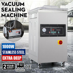 1000w Vacuum Packing Sealing Sealer Machine Extra Deep Commercial Kit Chamber