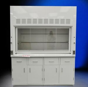 6 Fisher American Chemical Fume Hood With Valves Dual Base Cabinets Storage
