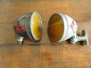 Vintage Accessory Turn Signal Directional Arrow Blinker Lamp Pair Truck Car Scta