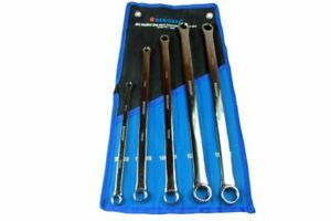 Aviation Double Ended Ring Spanner Set Extra Long 5 Piece Bergen