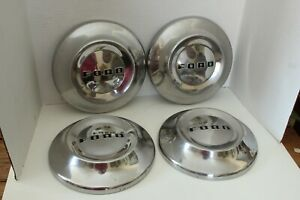 Vintage Set Of 4 1952 54 Ford 10 5 Dog Dish Poverty Hub Caps
