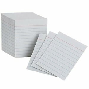Esselte Corporation Oxfords Mini Index Cards White set Of 24
