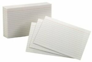 Esselte Pendaflex 40153 sp 100 Count 3 In X 5 In White Ruled Index Cards