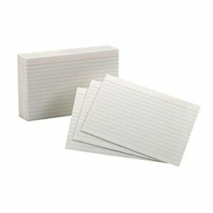 Esselte Corporation Oxford Index Cards 4x6 Ruled White set Of 24