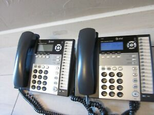At t 1040 Small Business System 4 line Corded Office Phones Tested Works