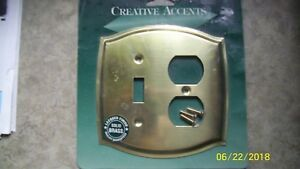 Vintage Original Heavy Solid Brass Outlet Light Switch Cover Plate