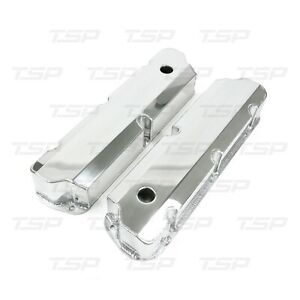 Ford Small Block Short Bolt Fabricated Aluminum Valve Covers Holes 5 0 Polished