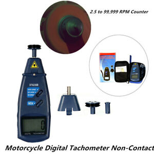 Motorcycle Car Boat Digital Tachometer Non Contact 2 5 To 99 999 Rpm Counter