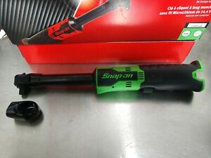Snap On Ctr767g Long Neck Cordless Ratchet New Green 3 8 Drive