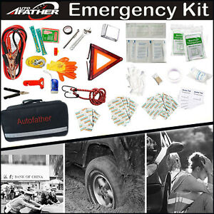 First aid Emergency Kit Car Roadside Assistance 123 in 1 Safety Complete Tools