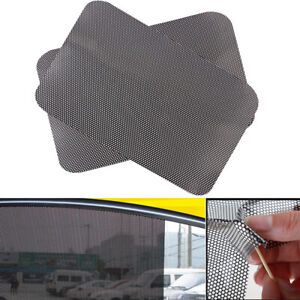 2x Auto Car Side Window Visor Sun Shade Mesh Film Windshield Cover Uv Block New