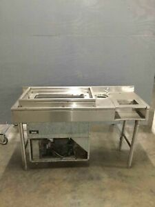 Bar Drop in Cooler On Stainless Stand W Water Spigot Send Best Offer