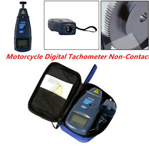 Universal Motorcycle Car Digital Lcd Tachometer Non Contact 2 5 To 99 999 Rpm