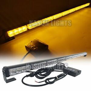 38in 36led Emergency Beacon Strobe Light Bar Traffic Advisor Arrow Warning Amber