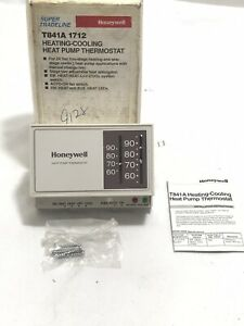 Honeywell T841a 1712 Heating cooling Heat Pump Thermostat For 24 Vac Two Stage