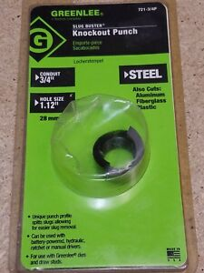 Brand New Greenlee 721 3 4 Slug buster Knockout Replacement Punch 1 115 inch
