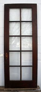 30 X79 5 Antique Vintage Solid Wood Wooden French Door Window Wavy Glass Lites