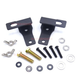 Hi Lift Jack Upper Hood Pair Mounting Brackets For 18 Up Jeep Wrangler Jl