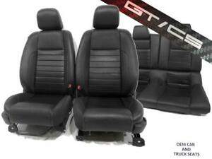 Ford Mustang Gt Cs Coupe Oem Leather Carbon Fiber Seats 2010 2011 2012 2013 2014