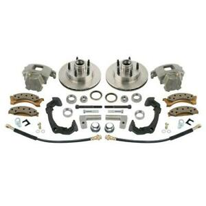Mustang Ii Disc Brake Kit For Early Chevy Spindles 5 On 4 1 2 Inch