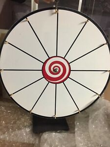 24 Tabletop White Dry Erase Fortune Prize Wheel Spin Wheel Game Party Wheel