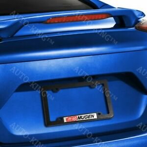 Mugen Car Trunk Emblem With Abs License Plate Tag Frame For Honda Civic Si 2pcs
