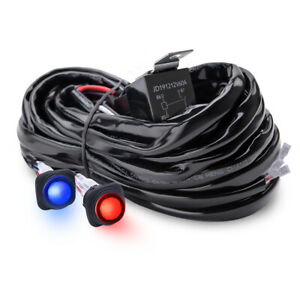 Mictuning 12v Dual Switches Wiring Harness For Car Led Light Bar 60a Relay 14awg