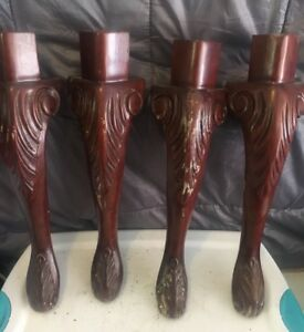 Architectural Furniture Salvage Heavily Carved French Wood Table Legs 20 25 Diy
