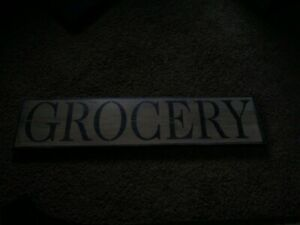 Seasonal Wooden Sign Grocery Primitive