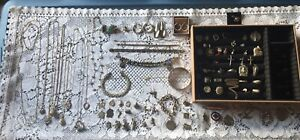 Huge Vintage Sterling Silver 925 Jewelry No Scrap Lot Necklace Bracelet Earrings