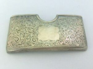 Vintage Sterling Silver Business Card Holder