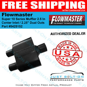 Flowmaster Super 10 Series Muffler 2 5 In Center Inlet 2 25 Dual Outs 8425152