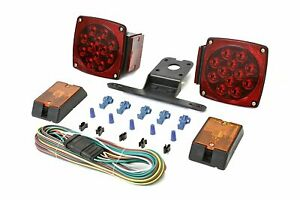 Trailer Led Light Kit Set 12v Tail Turn Signal Lights For Car Truck Autos Rv