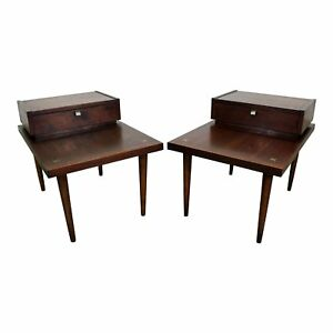 Pair Of Mid Century Modern Merton Gershun American Of Martinsville End Tables