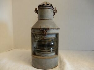 Nautical Oil Lamp Antique Galvanized Steel And Brass