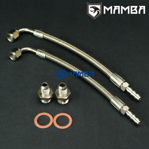 Turbo Water Line Kit 50cm 90deg 3 8barb Ford Sierra Cosworth Escort Cosworth Ybt