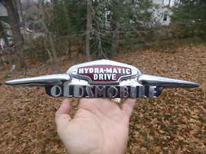 1946 1948 1949 Oldsmobile Hydra matic Trunk Emblem 418561 Cloisonne 15 Long